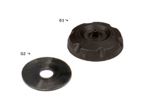 YCF Plastik Tankdeckel YC110-0702-01 / Dichtung YC110-0720-02