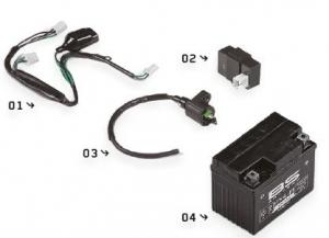 YCF Zündungsteile Kabelbaum, CDI, Zündspule, Batterie