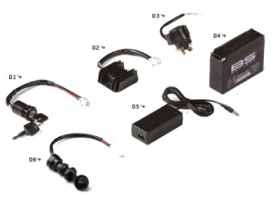 YCF Zündungsteile, Batterie, Ladegerät