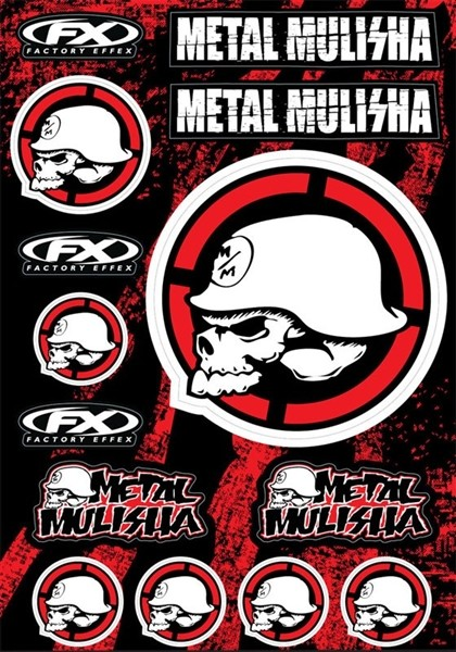 STICKERSET METAL MULISHA 14-68052