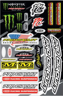 PRO CIRCUIT DE LUXE RACE TEAM STICKER KIT DC18DLX