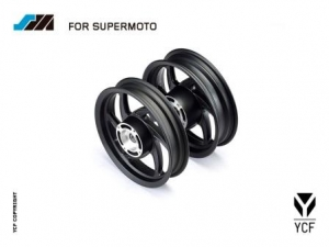 YCF Supermoto MOBSTER VORTEX Billet Lite Felgen Set KWMOBSTER02-BK